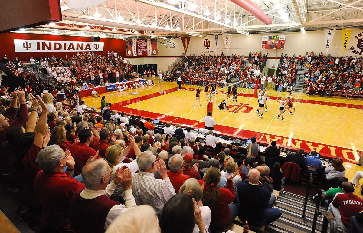 Indiana University Volleyball Hosts The Indiana Invitational This Weekend In University Gym Go Hoosiers Indiana Basketball Indiana University Indiana