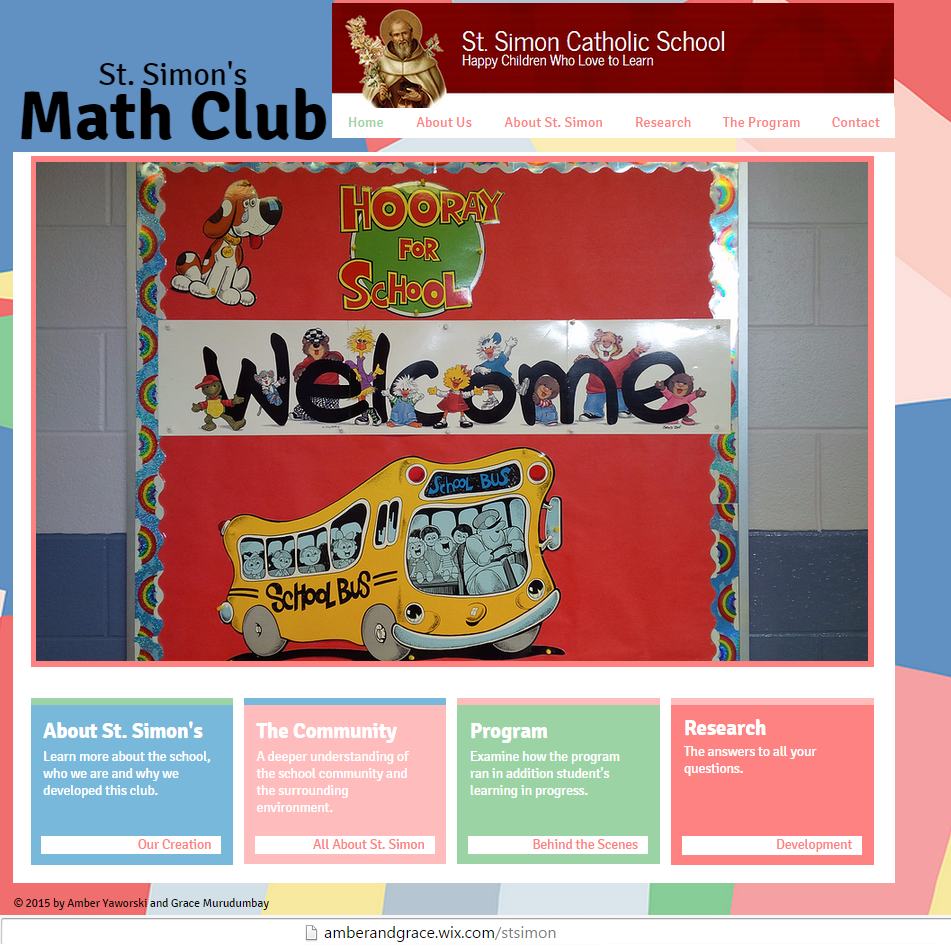 A website I created to showcase a math club I lead. This can be ...