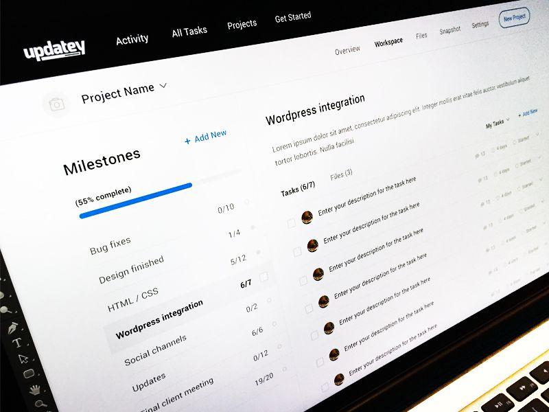Updatey Redesign Gui Design Redesign Web Layout
