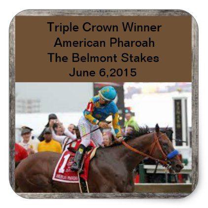 American pharoah triple crown sticker american pharoah