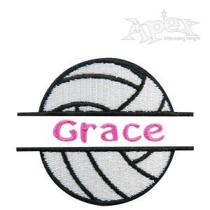 Volleyball Split Frame Embroidery Design Apex Embroidery Designs Monogram Fonts Alphabets Framed Embroidery Embroidery Designs Apex Embroidery