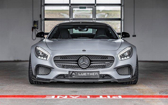 Download Wallpapers Mercedes Amg Gt 2017 Cars Garage Luethen