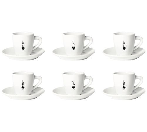 Set de 6 tasses espresso + sous tasses 'Omino' Bialetti | MaxiCoffee.com