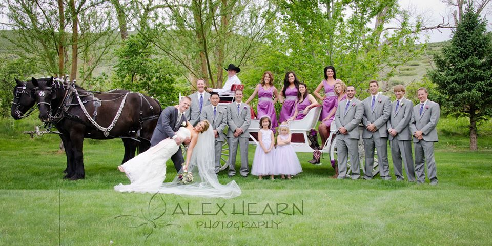 One Of The Coolest Wedding Parties Ever Ellis Ranch Event Center