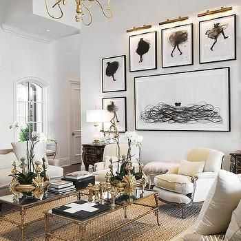 Living Room With Two Coffee Tables French Black White And Gold Pinterest Rooms