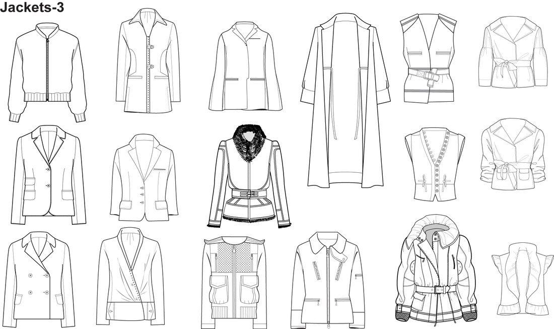 Clothing Templates | Plantillas Moda Illustrator Inicio Dibujos Tecnicos De Prendas