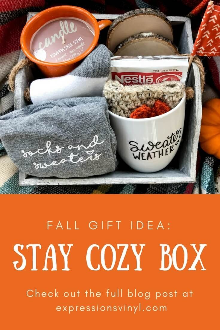 Stay Cozy Fall Gift Idea - Kayla Makes