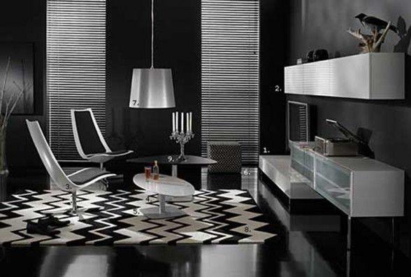 decoracin de interiores con paredes y muebles negros casa moderna casas decoracion