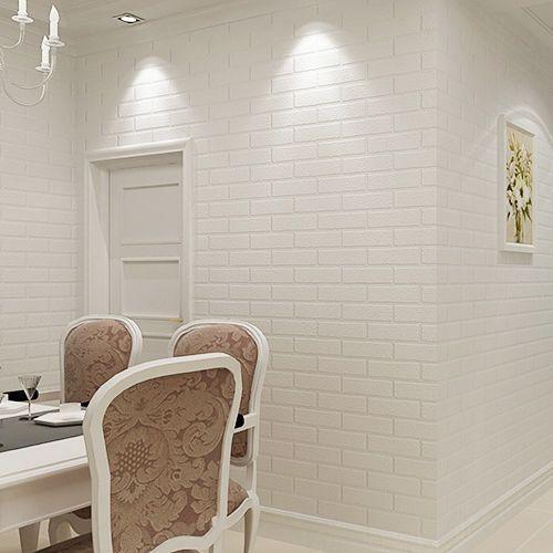 10m 3d Textured Embossed White Brick Stone Rock Print Natural Theme Wallpaper Au Ruang Tamu Rumah Panel Dinding Perbaikan Rumah