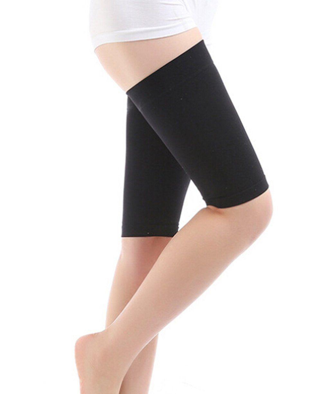 3f28e46da2c66 ... Breathable Stretch Skinny Leg Weight Loss Wrap Belt Massager Slimming Thigh  Leg Shaper Compression Socks Burn Fat Thin Leg Socks for Women Lady(1 Pair).