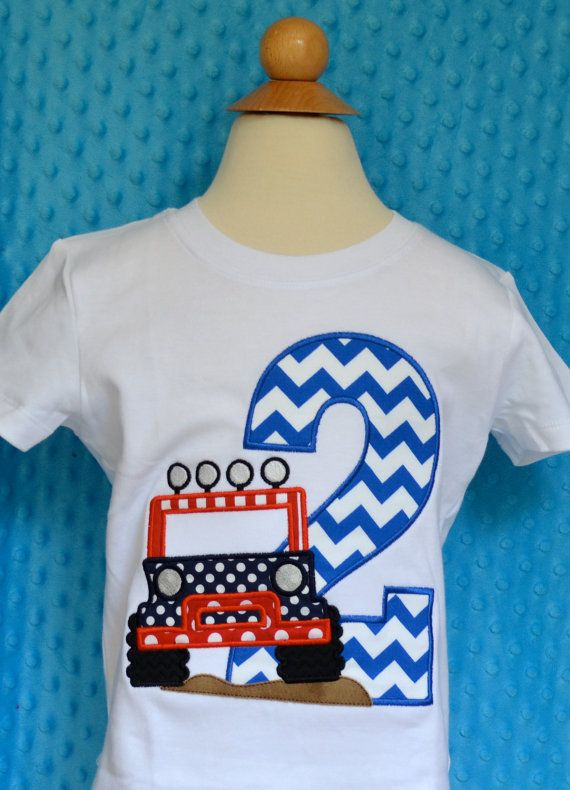 Personalized Birthday Jeep Applique Shirt Or By PixieStitchLLC