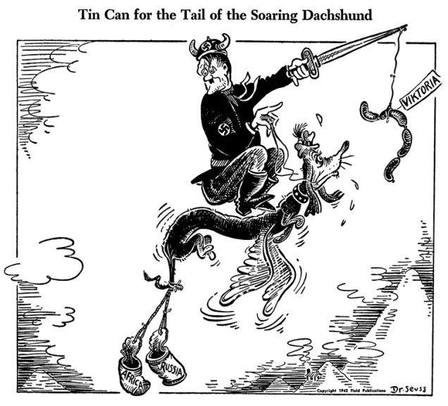 The extraordinarily surreal World War II editorial