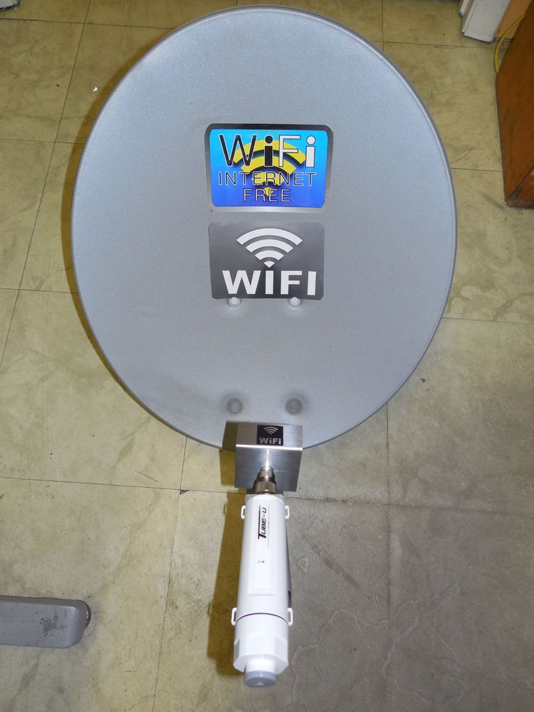 satellite dish wifi antenna for free internet Biquad WiFi Antenna Dish feed for ALFA G/N Tube-U GET FREE INTERNET ...