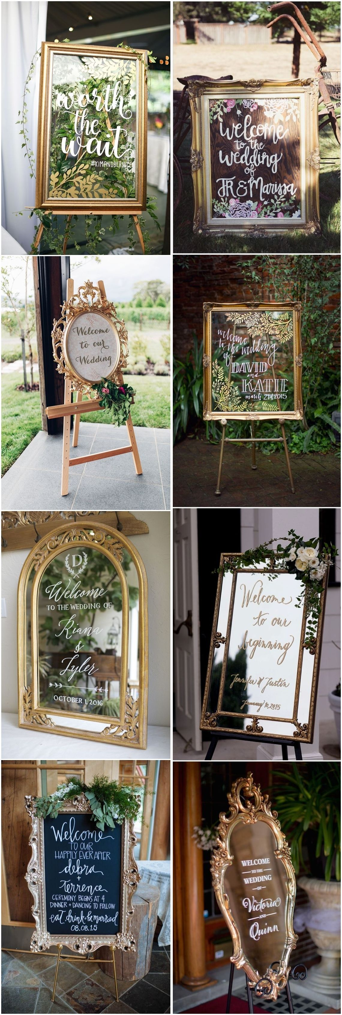 Chic Greenery Wedding Signs for  Trends  Wedding calligraphy