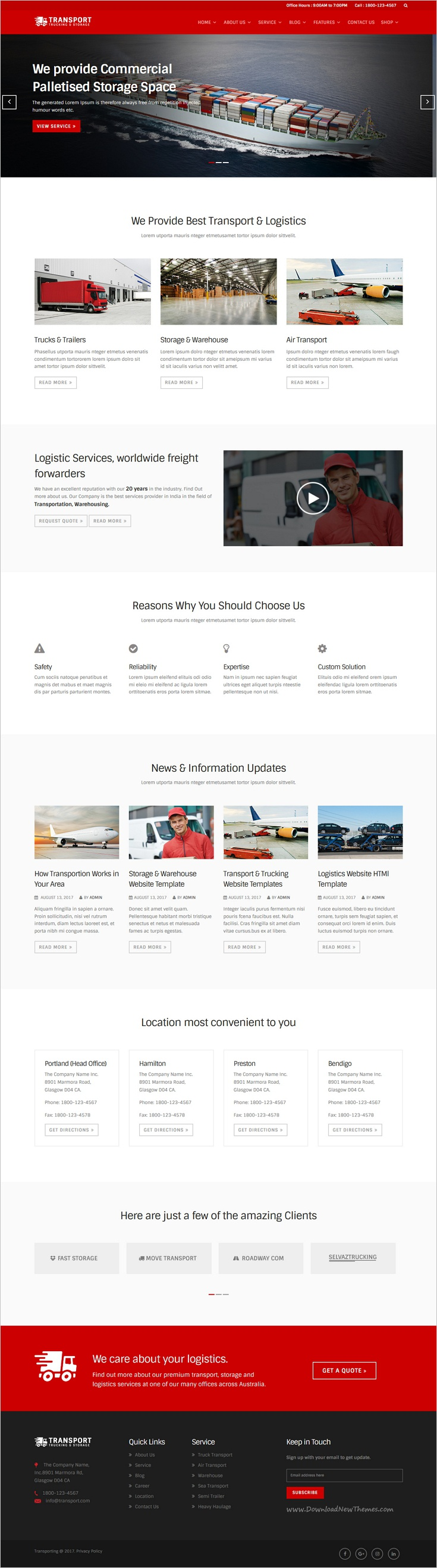 Trucking is a wonderful 3in1 #bootstrap template for #transport and ...