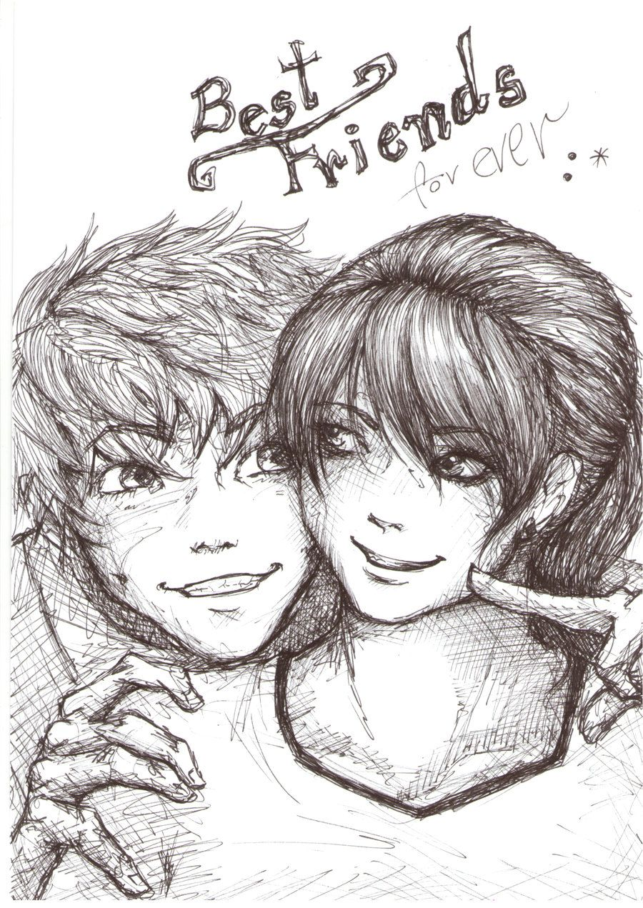 Drawings Friends A Boy And A Girl In Love