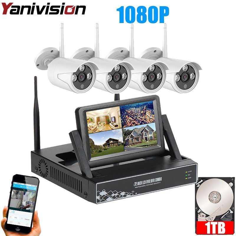 Wireless Security Cameras Home Surveillance System with Monitor 7 ...