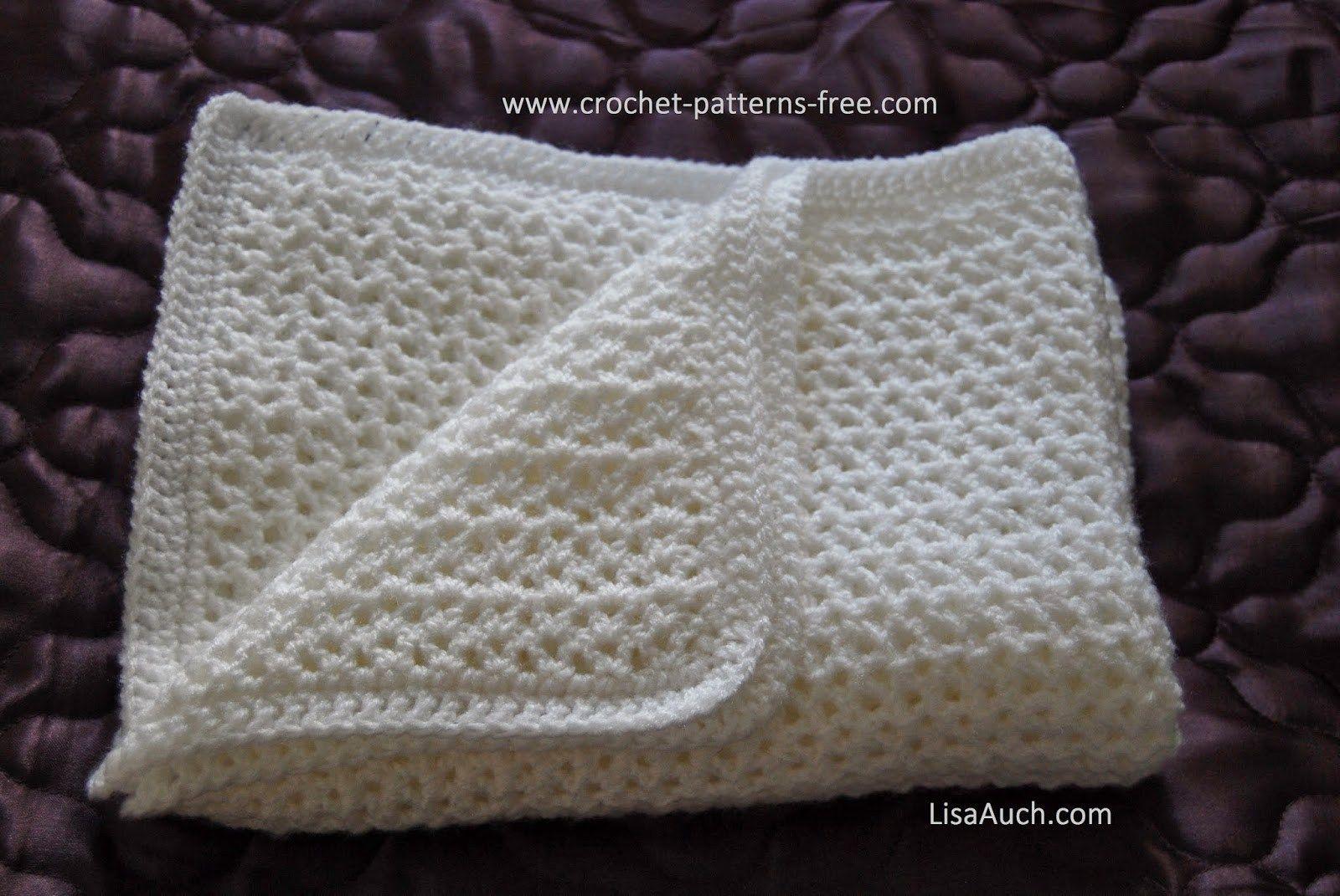 Easy Crochet V Stitch Crocheted Baby Afghan ~ Free Crochet Patterns ...