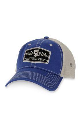 e5bee9fbf8a95 Salt Life Men s The Trifecta Hat - Royal Blue - One Size
