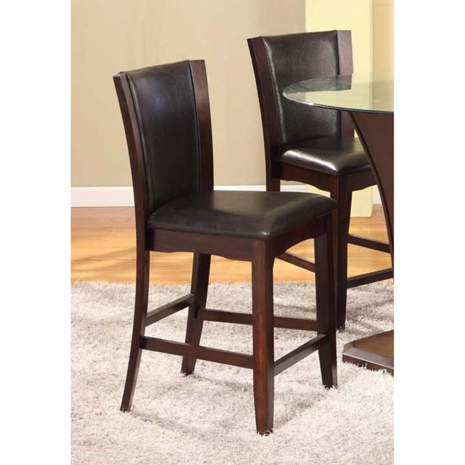 Roundhill Furniture Kecco Solid Wood Counter Height Stools Set Of 2 Counter Height Stools 24 Bar Stools Bar Stools