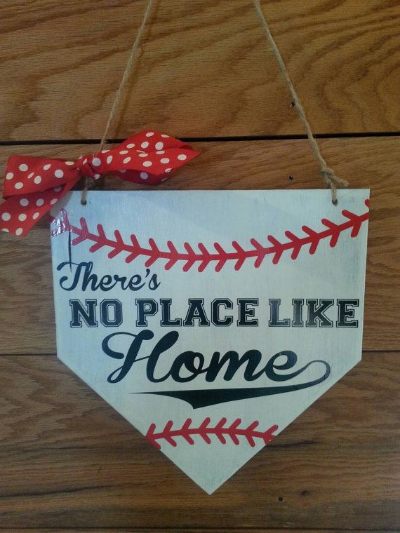 Hey, I found this really awesome Etsy listing at https://www.etsy.com/listing/290592591/no-place-like-home-baseball-sign