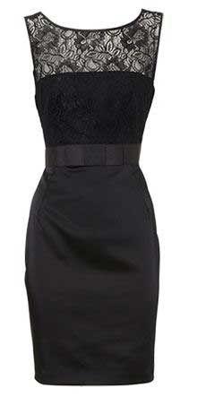 Black lace/satin dress