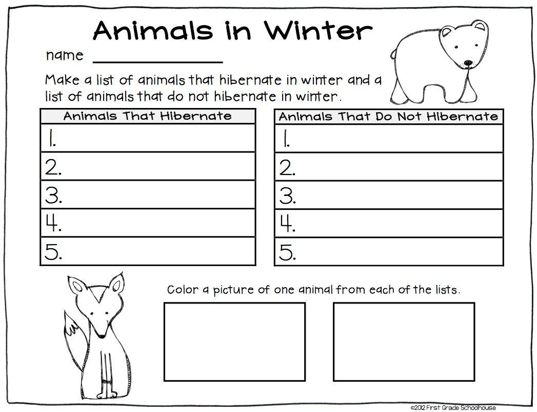 Winter Writing First Grade