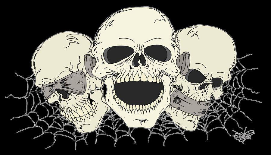 See No Evil Hear No Evil Speak No Evil See No Evil Hear No Evil Speak No Evil By Zmbgraphics On Deviantart Skull Evil Skull Tattoo See No Evil