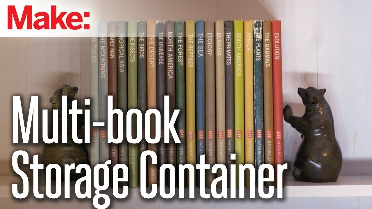 Multi book storage containerhider Someday Projects