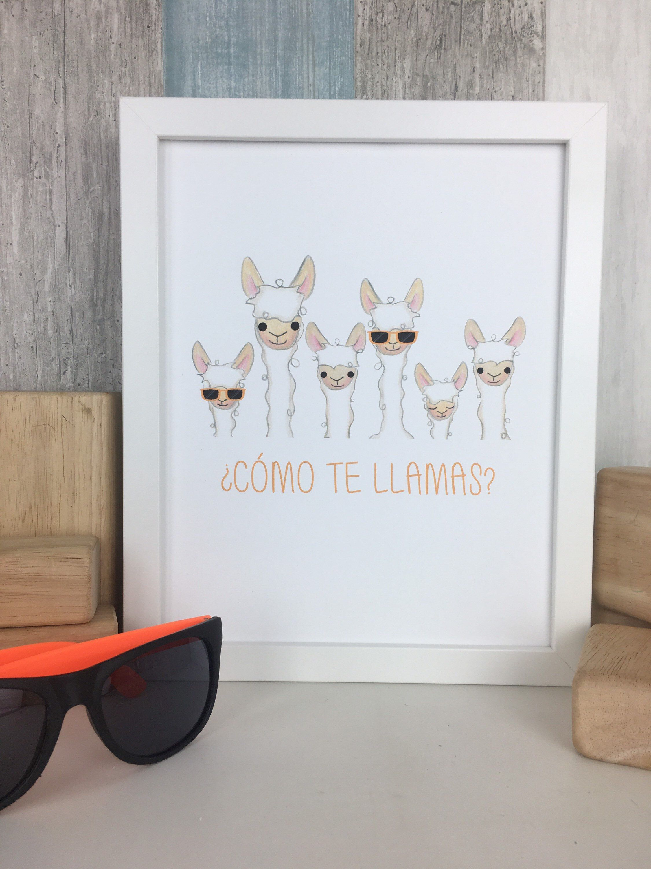 Instant Download Como Te Llamas Art Print Spanish Teacher