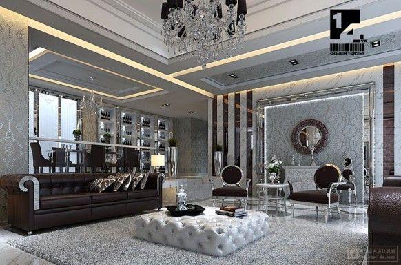Living room french art deco voor het huis