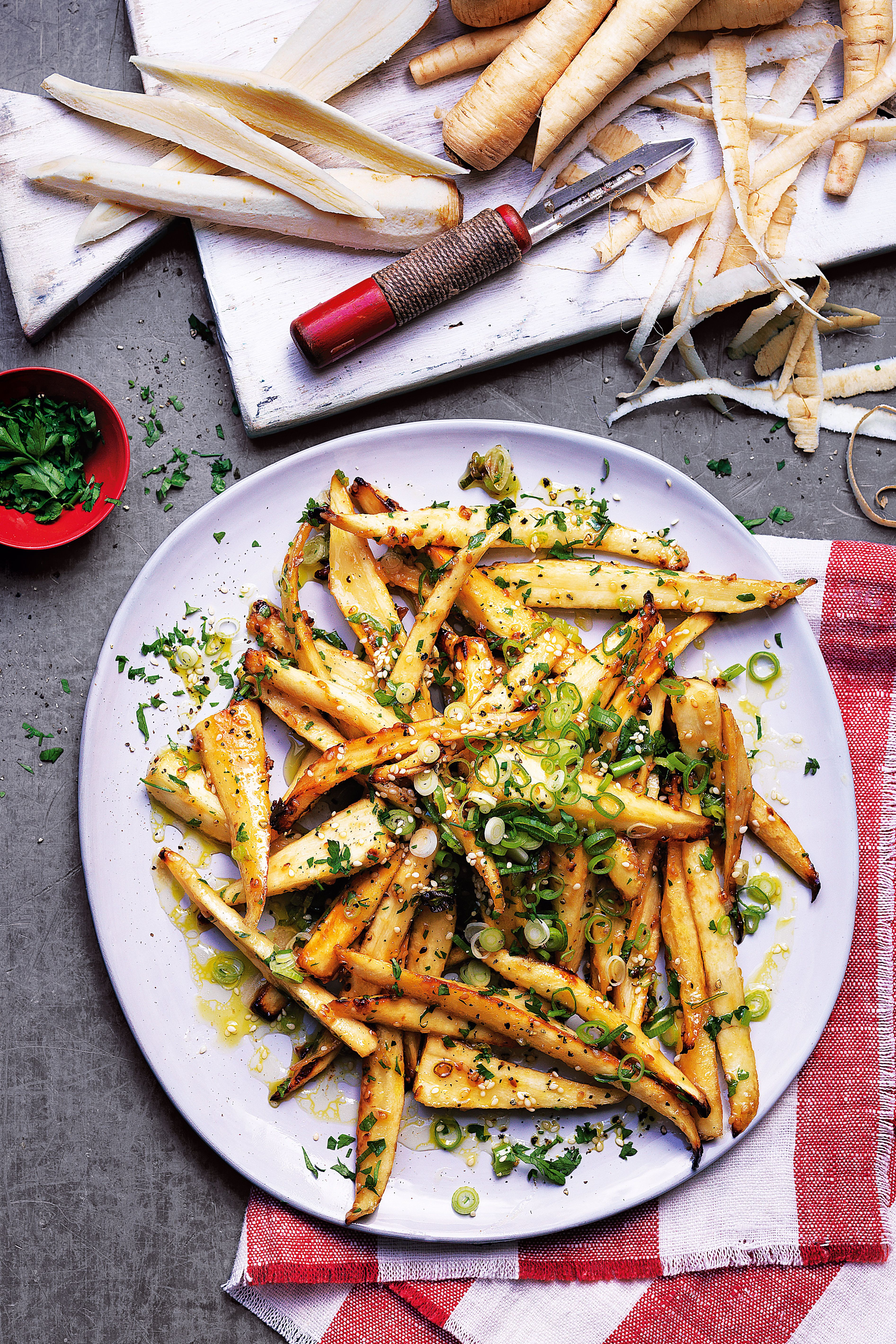 miso and honey baked parsnips recipe pinterest christmas side onions and dishes - Christmas Side Dishes Pinterest