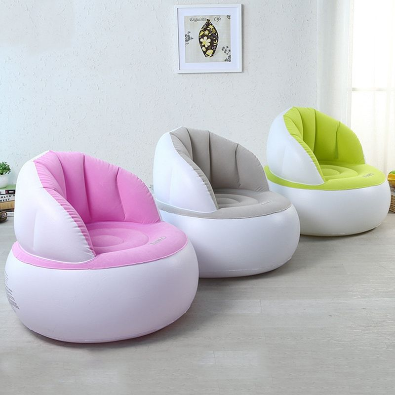 Lux Outdoor Decor Inflatable Pouf Bean Bag Chair