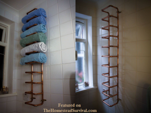 Copper pipe vertical towel rack diy project the homestead survival copper pipe vertical towel rack diy project the homestead survival homesteading do it yourself solutioingenieria Images