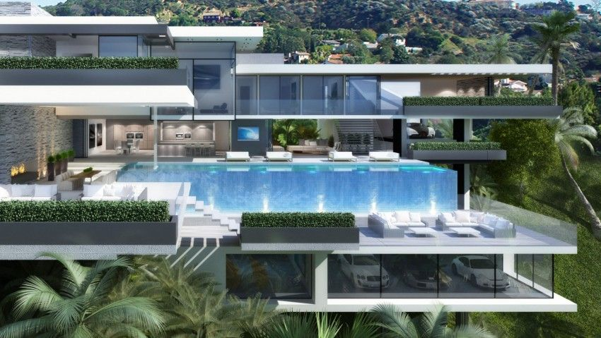 Modern Architecture Mansions two modern mansions on sunset plaza drive in la | modern mansion