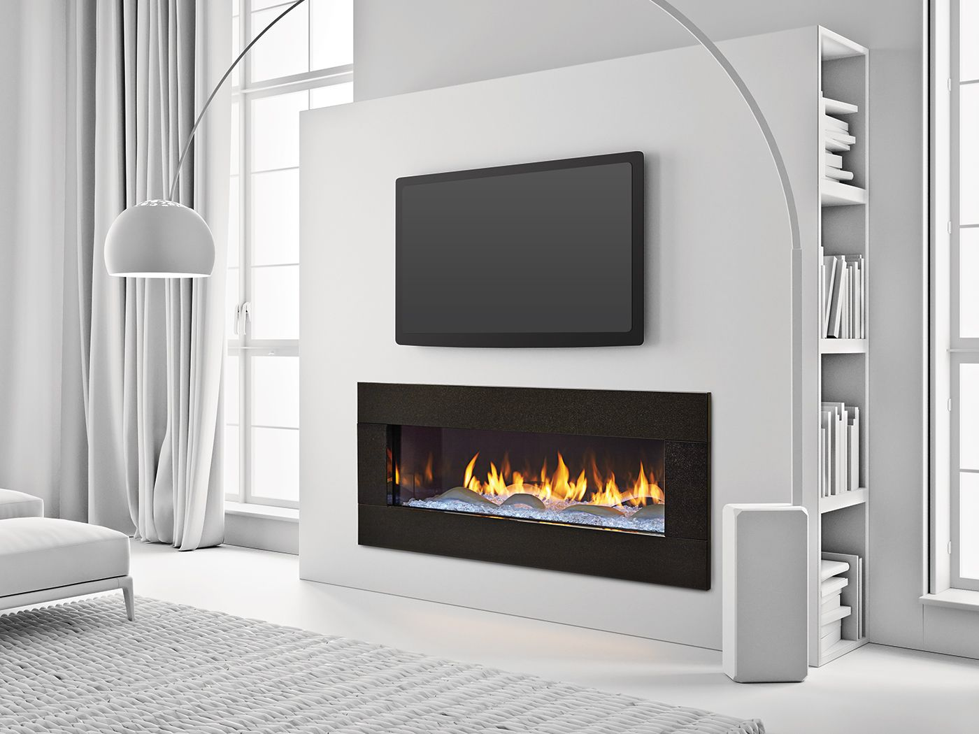 Designed specifically for heat glo by renowned sculptor for Bedroom electric fireplace