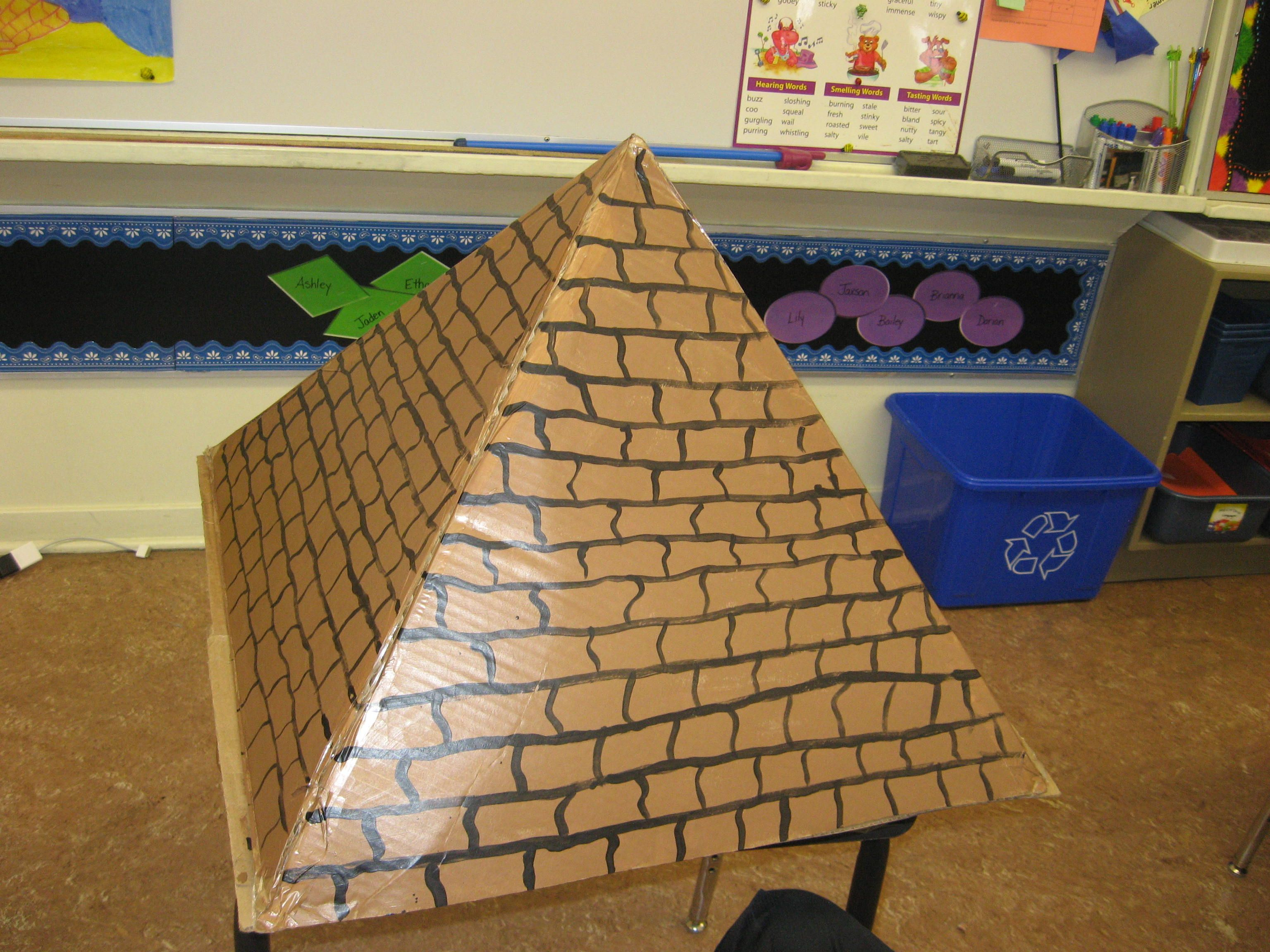 Amazing pyramid project by jaxson projects big for Cardboard for projects