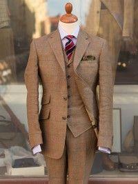 Bladen Light Brown Linen 3 Piece Suit Linen Suits For Men 3