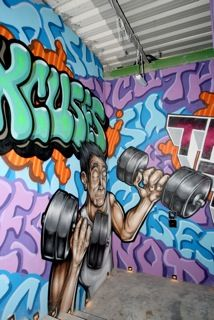 Gym Graffiti Google Search Gym Gym Room Mural Wall