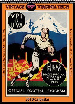 Virginia Tech Calendar.1930 S Virginia Tech Football Program Virginia Tech Football
