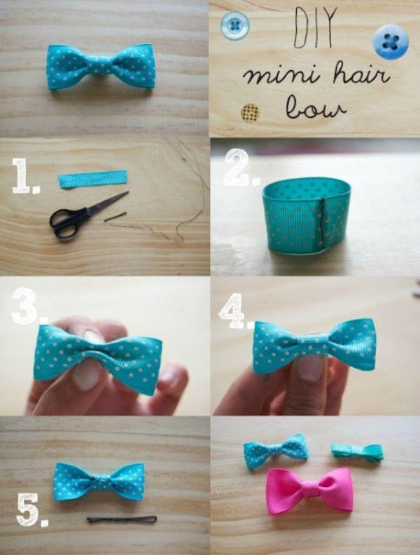 30 Cute And Easy To Make Hair Bows Cute Diy Projects Diy Bow Making Hair Bows Mini Hair Bows