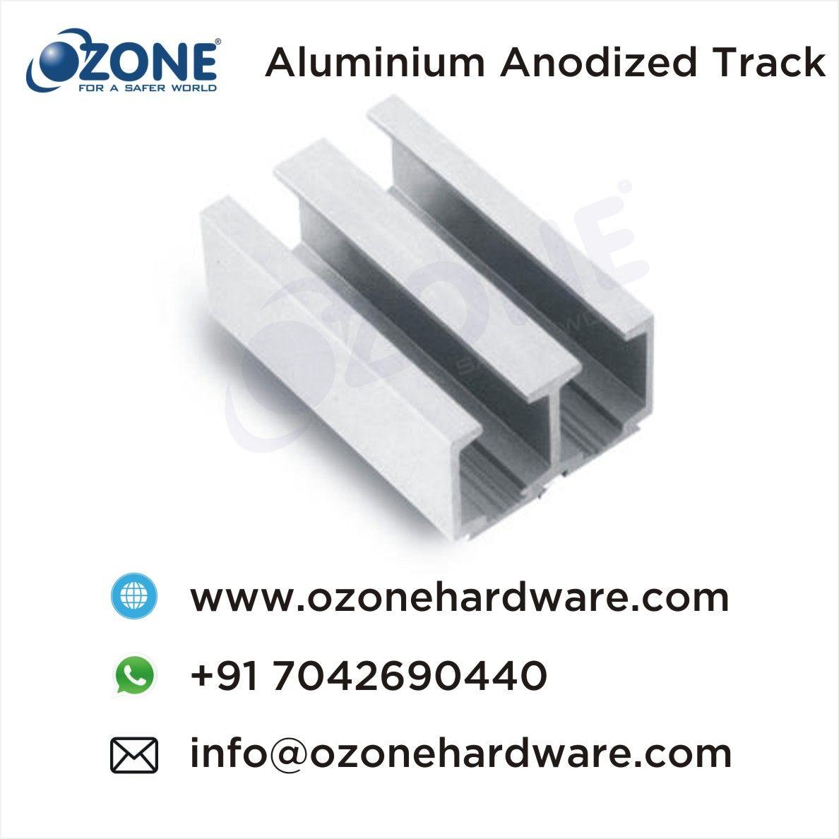 Aluminium Anodized Track Double Door Sliding Door System 44