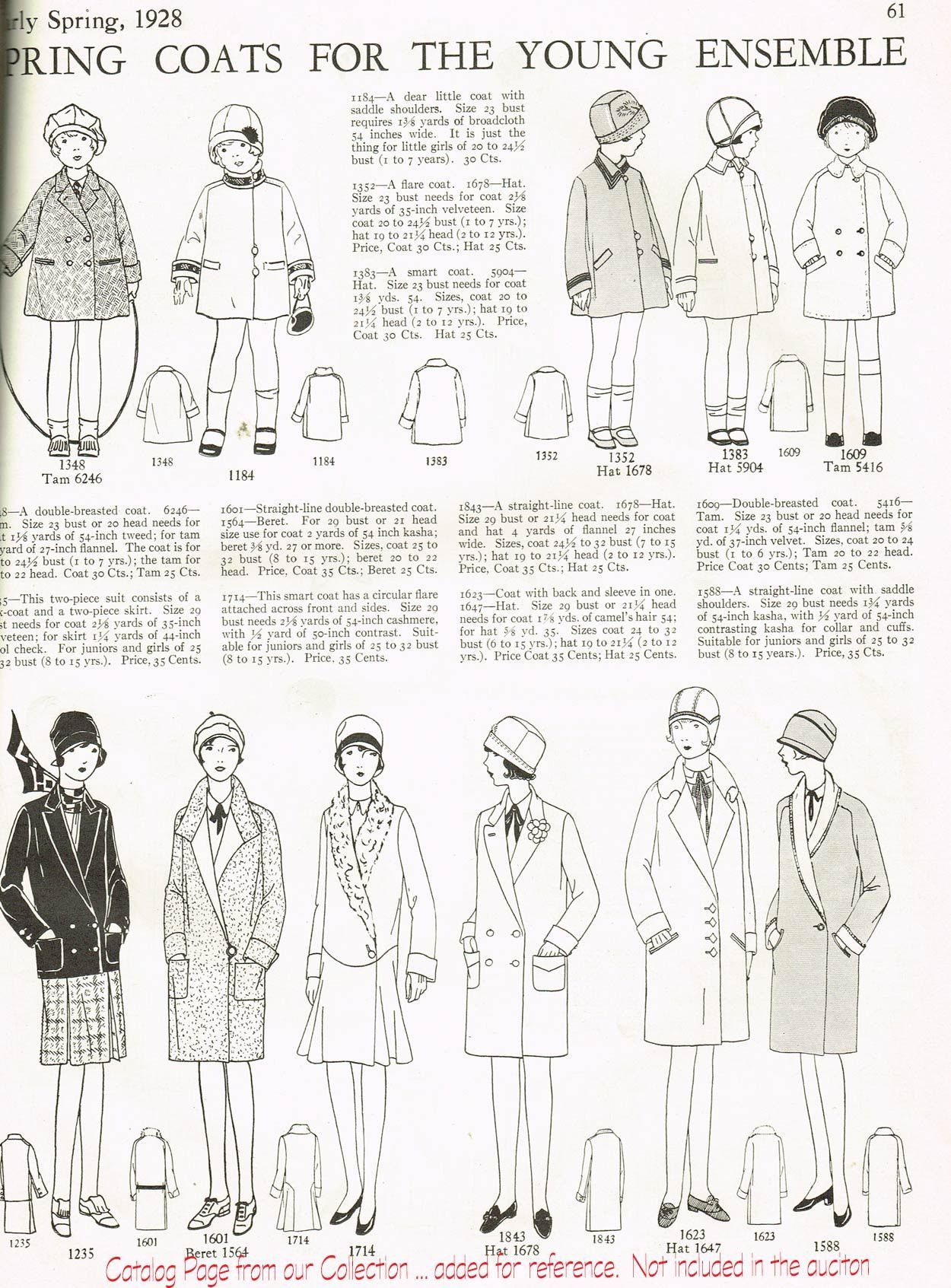 1920s Antique Butterick Sewing Pattern 1843 Uncut Girls ...