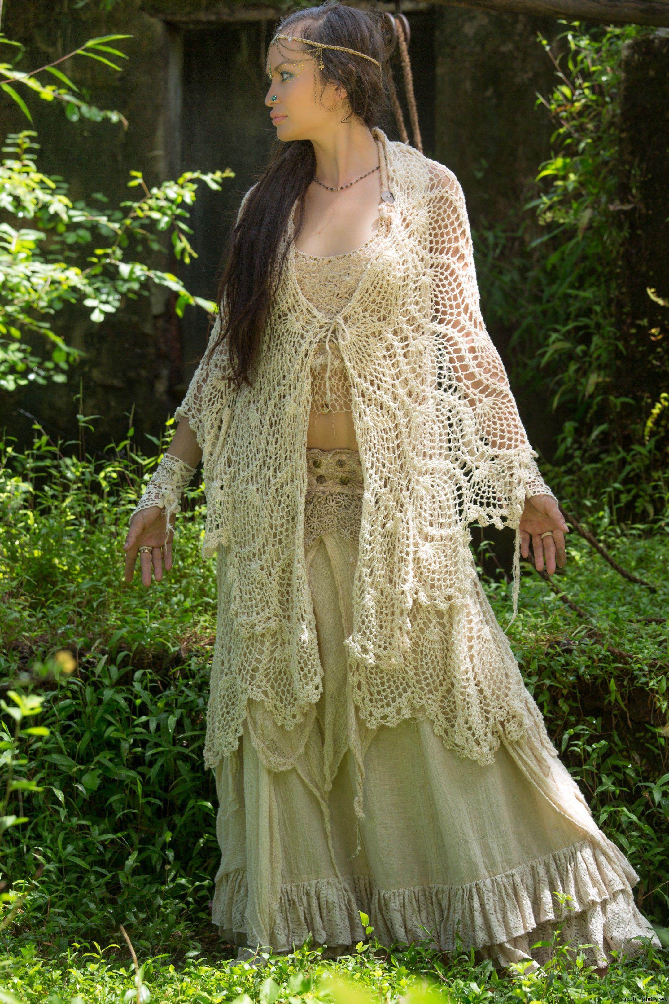 Unique Shawl Vest The Enchantress Jungle Gypsy Knit