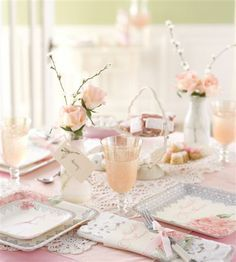 lovely antique bridal shower theme featuring lace and pink peonies bridal shower decorations shower