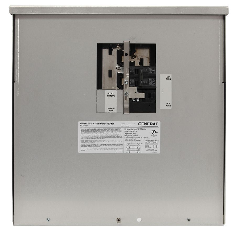 Generac 200Amp Manual Transfer Switch 6335 in 2020