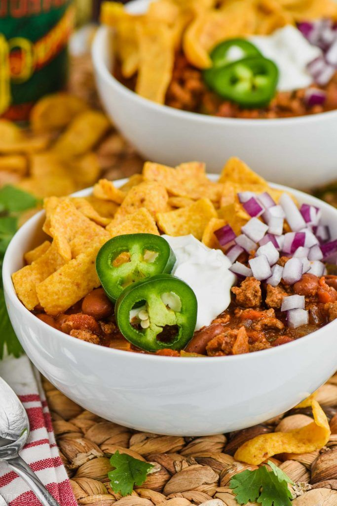 This Healthy Turkey Chili recipe is hearty, warming, and ...