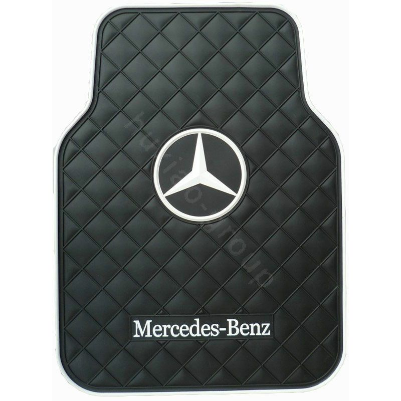 132 48 Benz Logo Universal Automobile Carpet Car Floor Mat Rubber