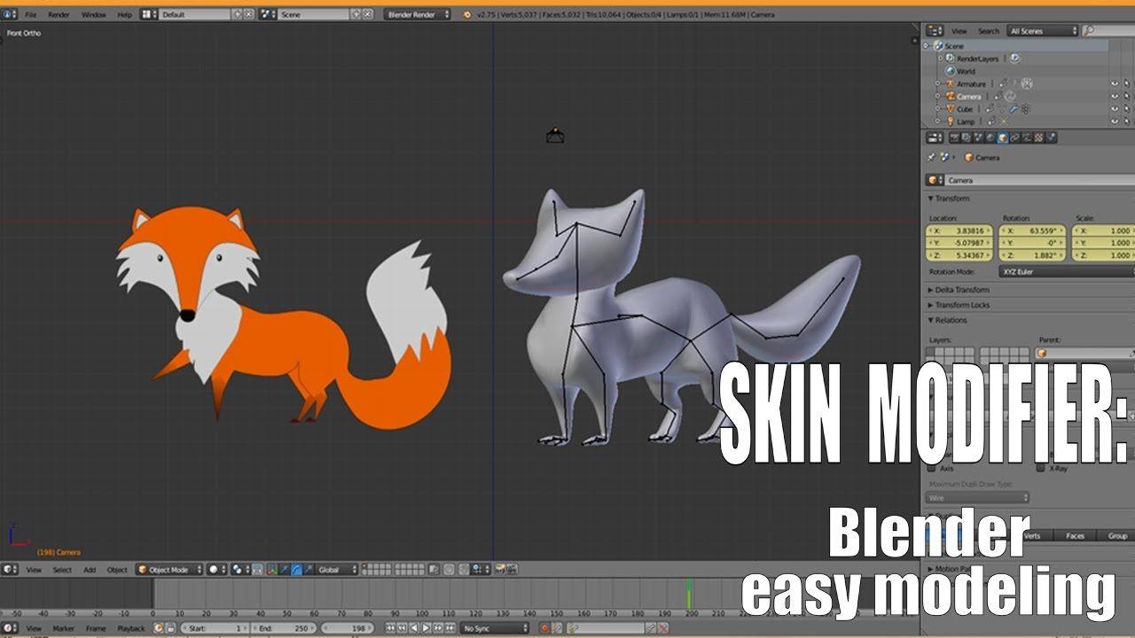 Skin modifier I Blender 3d | Animal Modeling in 2019 | Blender