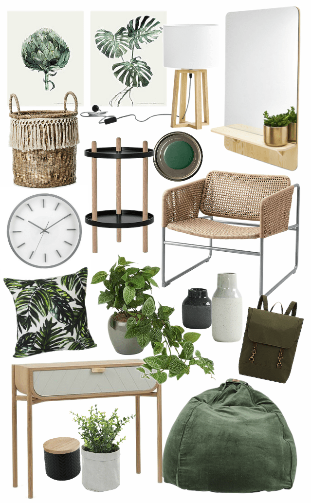 Botanical interior design ideas mood board on tlc interiors blog also simple ways to add green vibes your home uk cottage project rh pinterest